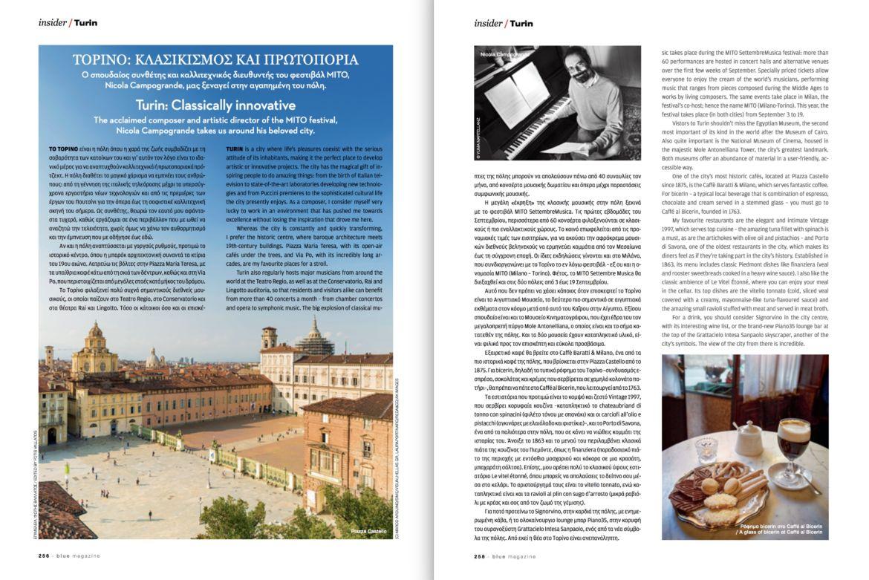 Campogrande Blue Magazine Aegean May 2018